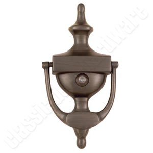 Door knocker with viewer classic oil rubbed bronze 2158 ebay - Brass door knocker with viewer ...